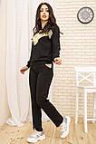 Костюм женский 167R13-1 цвет Черный, фото 2
