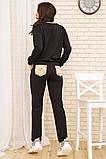 Костюм женский 167R13-1 цвет Черный, фото 3
