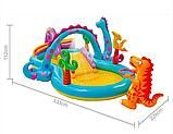 Игровой центр 57135  планета динозавров, с горкой, душем, мячиками и надувными игрушками, фото 2