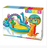 Игровой центр 57135  планета динозавров, с горкой, душем, мячиками и надувными игрушками, фото 3