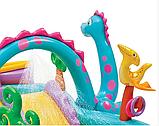 Игровой центр 57135  планета динозавров, с горкой, душем, мячиками и надувными игрушками, фото 4