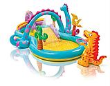 Игровой центр 57135  планета динозавров, с горкой, душем, мячиками и надувными игрушками, фото 6