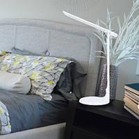 Настольная светодиодная лампа с ночником и регулировкой температуры свечения LUXEL 10W IP20 (TL-01W)