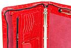 Папка для документів з еко шкіри під крокодила Portfolio Portak-19 червона, фото 5