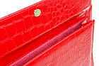 Папка для документів з еко шкіри під крокодила Portfolio Portak-19 червона, фото 6