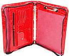 Папка для документів з еко шкіри під крокодила Portfolio Portak-19 червона, фото 8