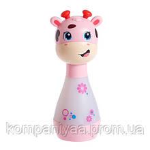 """Детская погремушка-ночник """"Жираф"""" со звуковыми эффектами BA6891 (Розовый)"""
