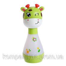 """Детская погремушка-ночник """"Жираф"""" со звуковыми эффектами BA6891 (Зеленый)"""
