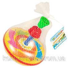 Дитяча пластикова дзига в сітці 850 (Жовтий)