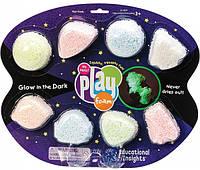 Набір кулькового пластиліну Educational Insights Космічне сяйво, 8 кольорів, фото 1