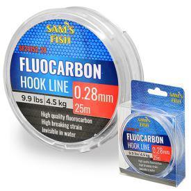"""Ліска """"100% Fluocarbon"""" 25м*0.28 мм 10шт/уп"""
