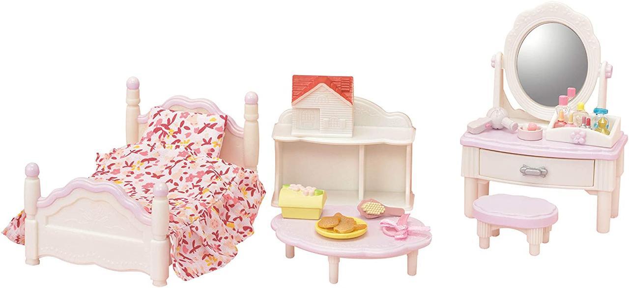 Sylvanian Families Ванільна кімната дівчинки 5285 ліжко з туалетним столиком Calico Critters CC1747
