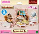 Sylvanian Families Ванільна кімната дівчинки 5285 ліжко з туалетним столиком Calico Critters CC1747, фото 3