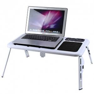 Підставка-стіл для ноутбука з двома USB вентиляторами, E-Table