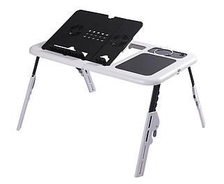 Столик-підставка для ноутбука стіл з охолодженням куллер E-Table охолоджуюча підставка
