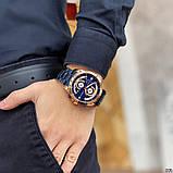 Наручний годинник Curren 8360 Blue-Gold, фото 3
