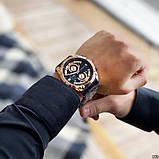 Наручний годинник Curren 8360 Blue-Gold, фото 4