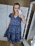 Женское платье батал, евро софт, р-р 52; 54; 56 (джинс), фото 2