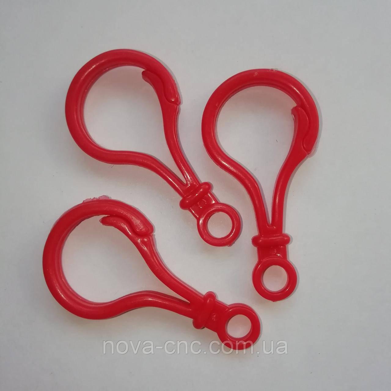 Карабин Пластиковый Заготовка для бизиборда 5 см красный