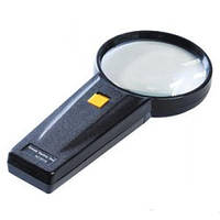 Лупа ручная с подсветкой, 2,5-и кратное увеличение, диаметр-90мм, MG82015