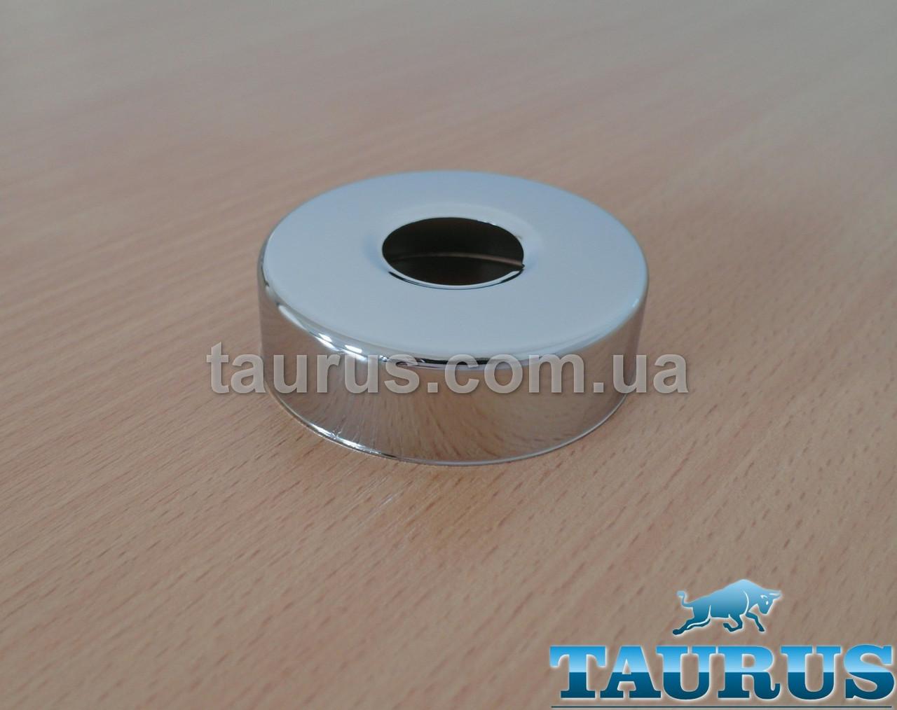 """Круглий об'ємний декоративний фланець D70 / висота 21 мм, внутрішній розмір 3/4"""" (D25 мм)"""