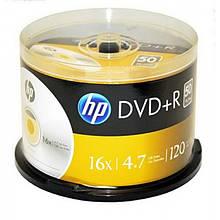 Диск DVD+R HP 4.7GB cake box (DRE00026-3) новый