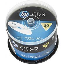 Диск CD-R HP 700MB cake box (CRE00017-3) новый