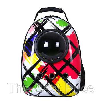 Рюкзак для переноски животных с иллюминатором CosmoPet для кошек и собак Colors