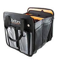 "Сумка-органайзер в багажник каркасная 520х260х280мм черная ткань PVC (трансформер)  ""Beltex"" (S)"