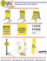 Наружная реклама пунктов обмена валют каталог
