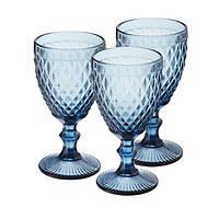 """Набор бокалов для вина из цветного стекла """"Кобальт"""" 6 шт (320 мл.), фото 1"""
