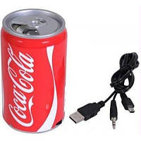 Портативная mp3 колонка coca cola, банка Кока кола USB/SD/FM