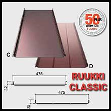 Покрівельні фальци-Ruukki Classic Premium - 0.6 мм embossed, фальцева покрівля з Фінляндії.