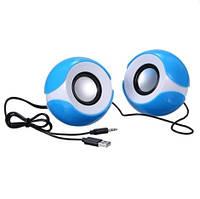 Колонки 2.0 G-SYSYTEM G-102, 2х2,5W, USB, пластмасс, с регулировкой звука на колонке, Blue/White, Box