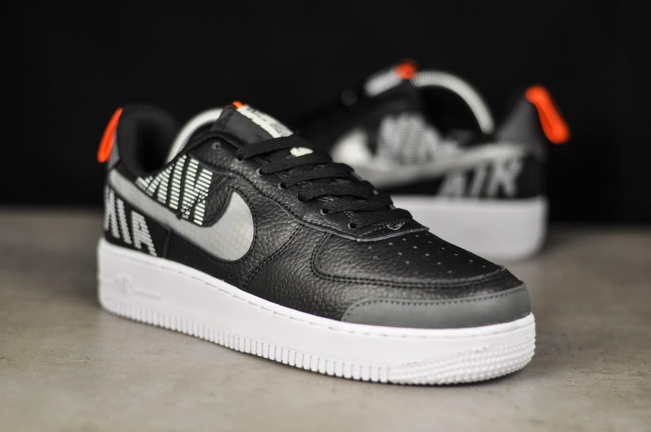 Кроссовки мужские Nike Air рефлективные черного цвета. Стильные мужские кроссовки Найк Аир черные.