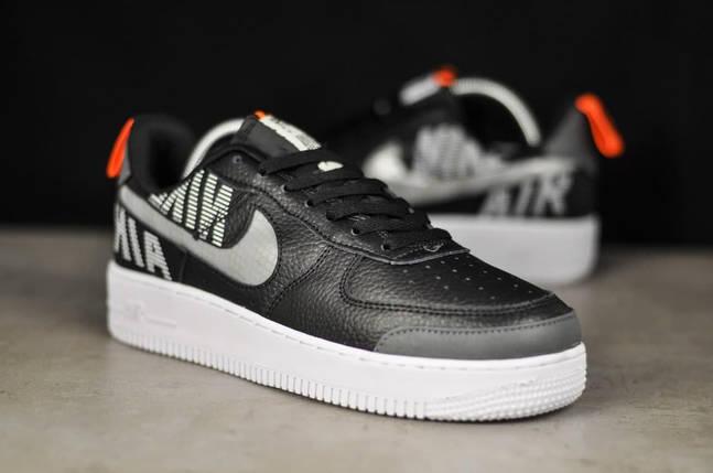 Кроссовки мужские Nike Air рефлективные черного цвета. Стильные мужские кроссовки Найк Аир черные., фото 2