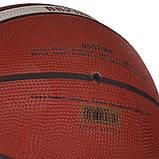 Мяч баскетбольный резиновый №6 MOLTEN B6G2000 (резина, бутил, коричневый), фото 3