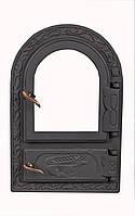Чугунная печная дверца со стеклом - VVK 33 х 50,5 см/ 25х42см, фото 1