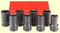 """Набор головок FORCE 8081D 1"""" 6-гр. ударных длинных 8 пр. (24-41 мм)"""