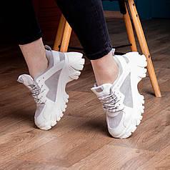 Женские сникеры Fashion Manchas 2065 36 размер 23 см Белый