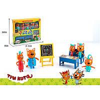 Игровой набор Три кота и кошечка школа,5 фигурок,три кота M-8812,школа М-8812