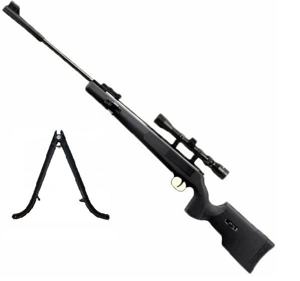 Пневматическая винтовка SPA ARTEMIS Airgun SR1250S NP Tact прицел 3-9х40, сошки