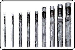 Пробойники отверстий для кожи 2.5-10 мм 9 шт YATO YT-3590