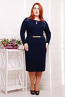 Платье элегантное польский трикотаж размеры 54 56 58 60