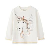 Лонгслів для дівчинки White horse Jumping Meters (4 роки)