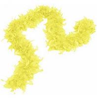Боа из перьев 40г 2м (жёлтое) розница/опт