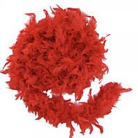 Боа из перьев 40г 2м (красное) розница/опт