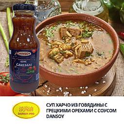 Суп харчо з яловичини з волоськими горіхами з соусом DanSoy Сацебелі