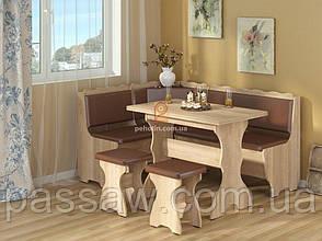 Кухонный уголок с раскладным столом Граф