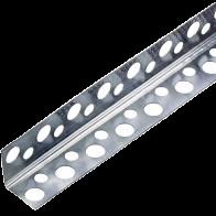 Уголок алюм. перфорированный 3,0 м (0,25мм; 38мм)